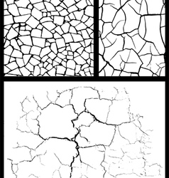 Cracked background set vector