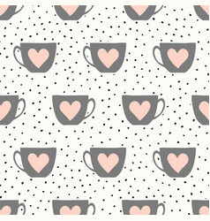 cute cups pattern vector image