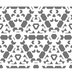 dark monochrome color abstract geometric seamless vector image vector image