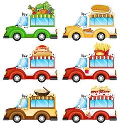 Different food vans vector image