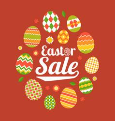 easter sale headline in egg frame vector image