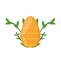 easter yellow egg branch plant vector image vector image