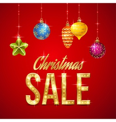Flash sale christmas vector image