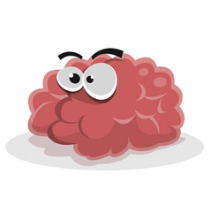funny brain character vector image