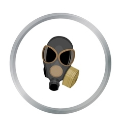 Gas masks icon cartoon Single weapon icon from vector image