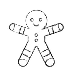 gingerbread man cookie icon vector image