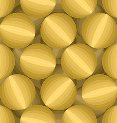 Gold 3D Balls seamless pattern Three-dimensional vector image