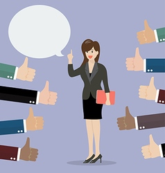 Good speech from business woman vector image vector image