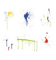 grunge pattern set vector image vector image