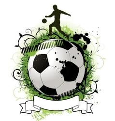 grunge soccer design vector image