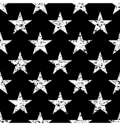 Grunge stars seamless pattern retro vector image vector image