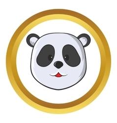 Head of panda bear icon vector