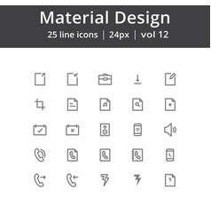 material design ui line icons vector image vector image