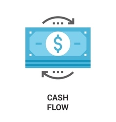 money flow icon concept vector image vector image