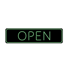 Open Sign Neon color vector image