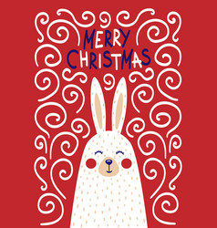 rabbit in a scandinavian style vector image