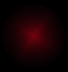 Red circle of dots on a black background vector