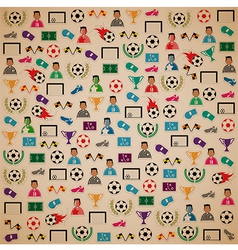 Soccer background Icons set eps10 vector image