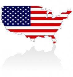 united states map and flag vector image vector image