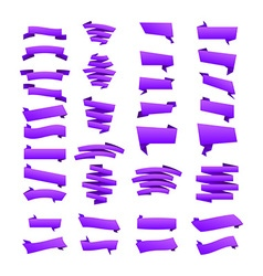 violet Collection of sale discount origami styled vector image
