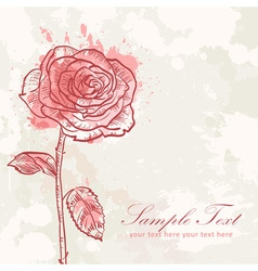 Valentine flower grunge invitation love card vector