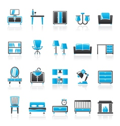 Furniture and home equipment icons vector