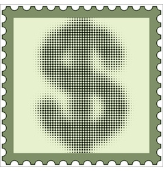 Us dollar stamp vector