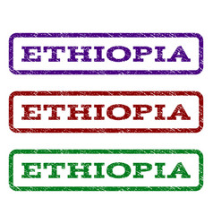 Ethiopia watermark stamp vector