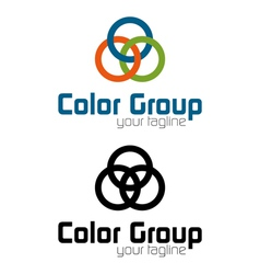 Color group logo vector