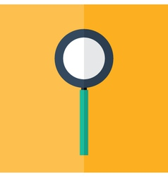 Loupe icon over orange vector