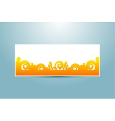 banner template vector image