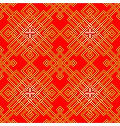 Red and gold chinese pattern vector