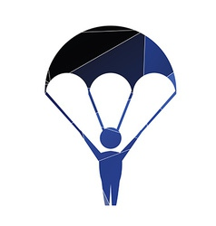 Parachutist icon abstract triangle vector