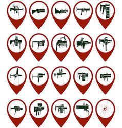 Badges with grenade launchers vector