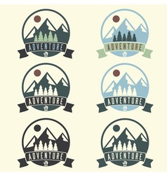 Set of adventure vintage labels vector