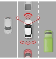 Car safety system vector