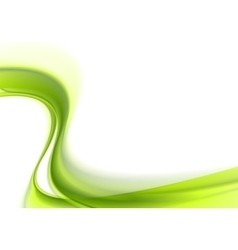Green abstract bright waves background vector