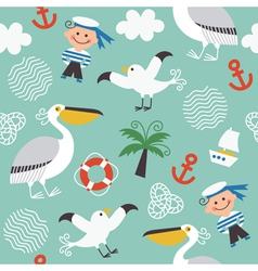 Children fabric design vector