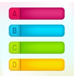 Paper labels with letters a b c d vector