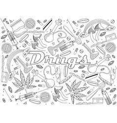 Drugs coloring book vector