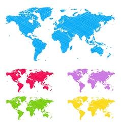 Doodle maps vector