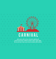 Background carnival funfair and circus vector