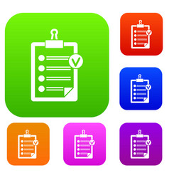 check list set collection vector image