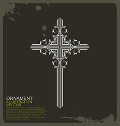 Cross Christian vintage ornament vector image vector image