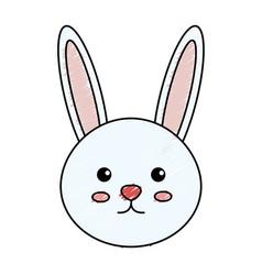 Cute and tender rabbit vector