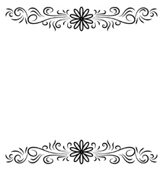 Doodle abstract handdrawn flower frame vector