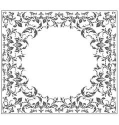 elegant circle frame with vintage ornament vector image
