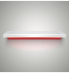 Empty illuminated shelve vector image vector image