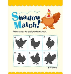 Game template for matching chicken vector image