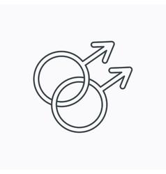 Gay couple icon homosexual sign vector